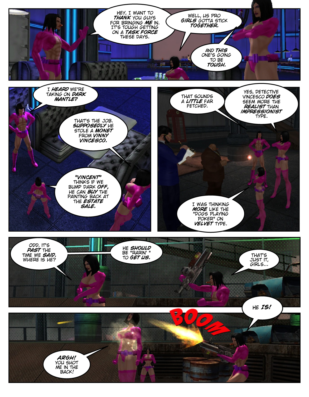 Les Professionnels 1 Page 5 – Betrayal Most Foul