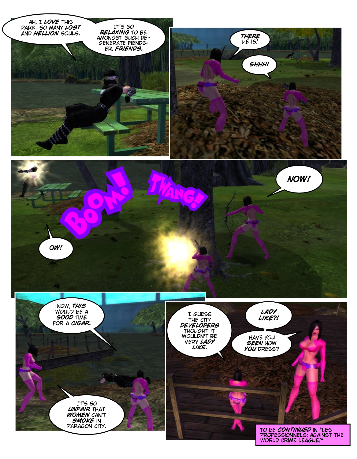 Les Professionnels 1 Page 8 – Smoking